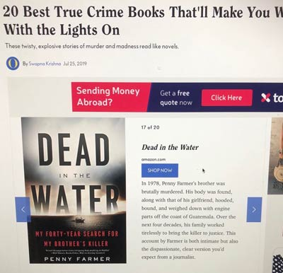 O Magazine - True Crime Books